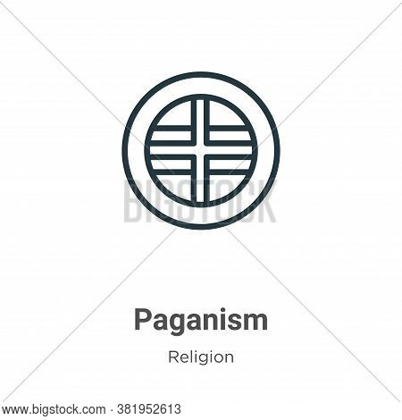 Paganism icon isolated on white background from religion collection. Paganism icon trendy and modern