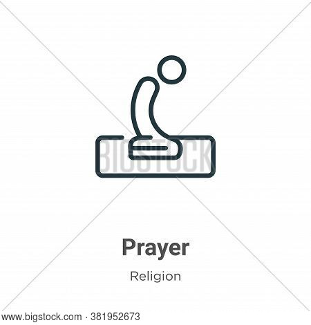 Prayer icon isolated on white background from religion collection. Prayer icon trendy and modern Pra
