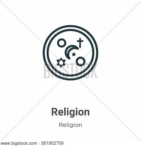 Religion icon isolated on white background from religion collection. Religion icon trendy and modern