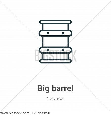 Big barrel icon isolated on white background from nautical collection. Big barrel icon trendy and mo