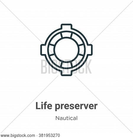 Life preserver icon isolated on white background from nautical collection. Life preserver icon trend