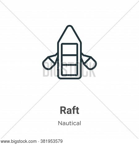 Raft icon isolated on white background from nautical collection. Raft icon trendy and modern Raft sy