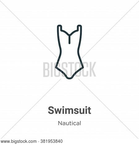 Swimsuit icon isolated on white background from nautical collection. Swimsuit icon trendy and modern