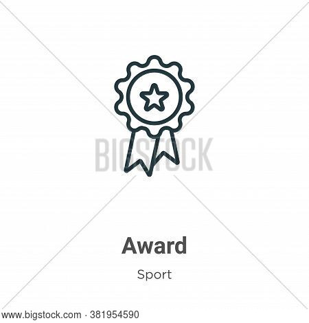 Award icon isolated on white background from sport collection. Award icon trendy and modern Award sy