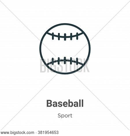 Baseball icon isolated on white background from sport collection. Baseball icon trendy and modern Ba