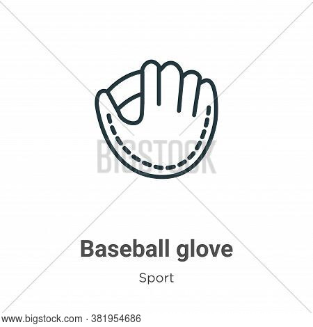 Baseball glove icon isolated on white background from sport collection. Baseball glove icon trendy a