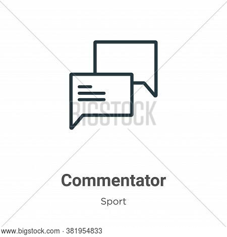 Commentator icon isolated on white background from sport collection. Commentator icon trendy and mod