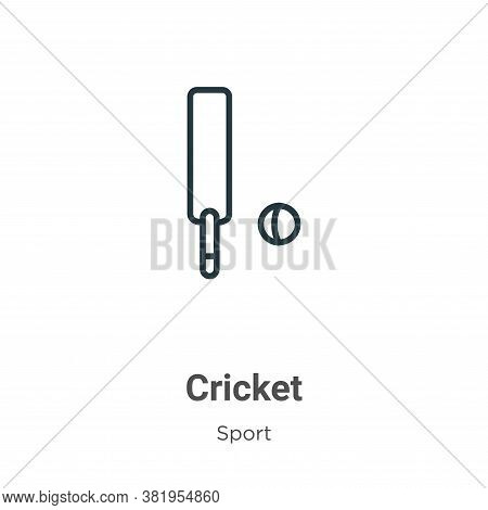 Cricket icon isolated on white background from sport collection. Cricket icon trendy and modern Cric