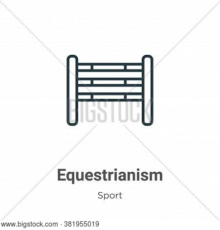 Equestrianism icon isolated on white background from sport collection. Equestrianism icon trendy and