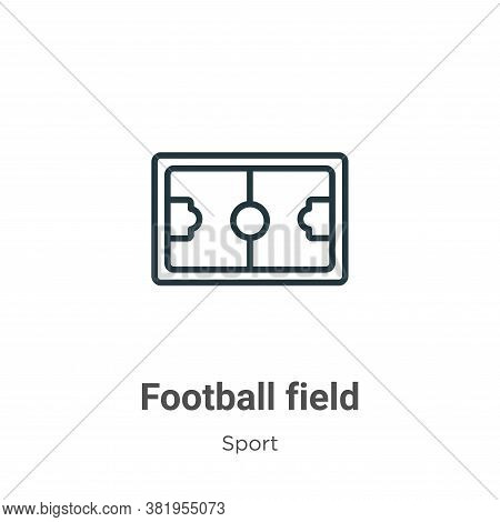 Football field icon isolated on white background from sport collection. Football field icon trendy a