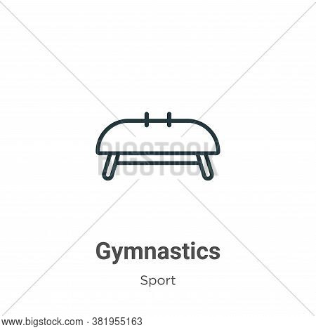 Gymnastics icon isolated on white background from sport collection. Gymnastics icon trendy and moder