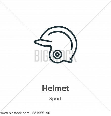 Helmet icon isolated on white background from sport collection. Helmet icon trendy and modern Helmet