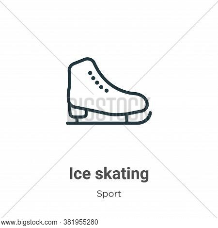 Ice skating icon isolated on white background from sport collection. Ice skating icon trendy and mod