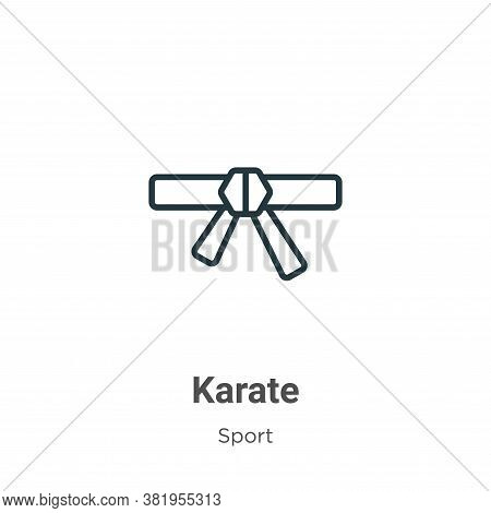 Karate icon isolated on white background from sport collection. Karate icon trendy and modern Karate