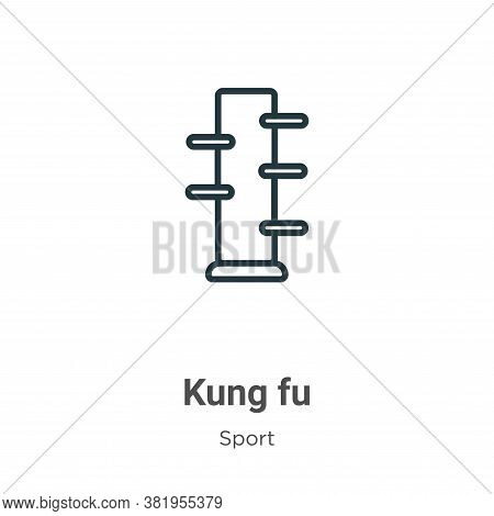 Kung fu icon isolated on white background from sport collection. Kung fu icon trendy and modern Kung