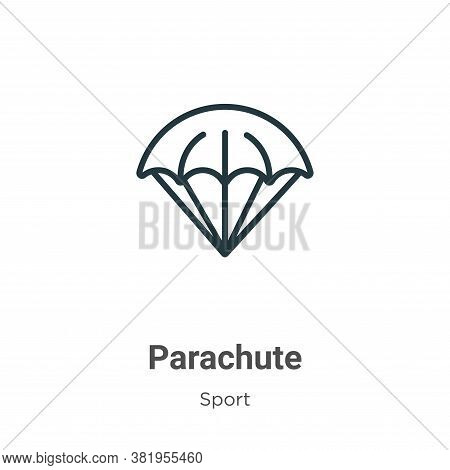 Parachute icon isolated on white background from sport collection. Parachute icon trendy and modern