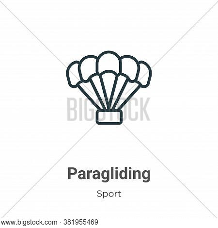 Paragliding icon isolated on white background from sport collection. Paragliding icon trendy and mod