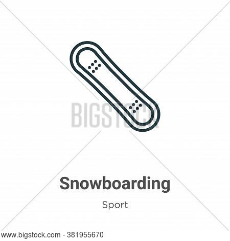 Snowboarding icon isolated on white background from sport collection. Snowboarding icon trendy and m