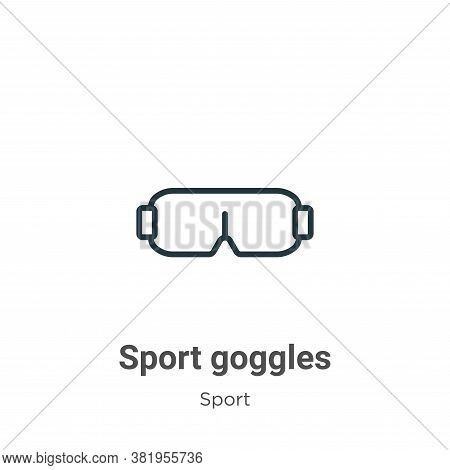 Sport goggles icon isolated on white background from sport collection. Sport goggles icon trendy and