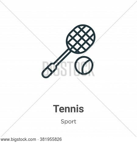 Tennis icon isolated on white background from sport collection. Tennis icon trendy and modern Tennis