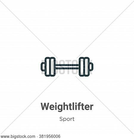 Weightlifter icon isolated on white background from sport collection. Weightlifter icon trendy and m