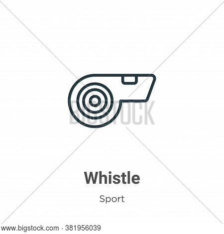 Whistle icon isolated on white background from sport collection. Whistle icon trendy and modern Whis