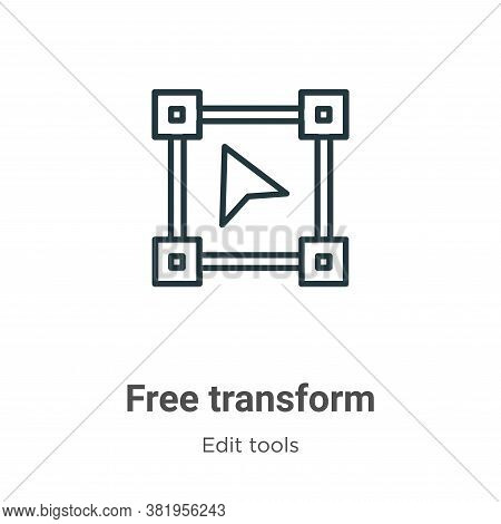 Free transform icon isolated on white background from edit tools collection. Free transform icon tre