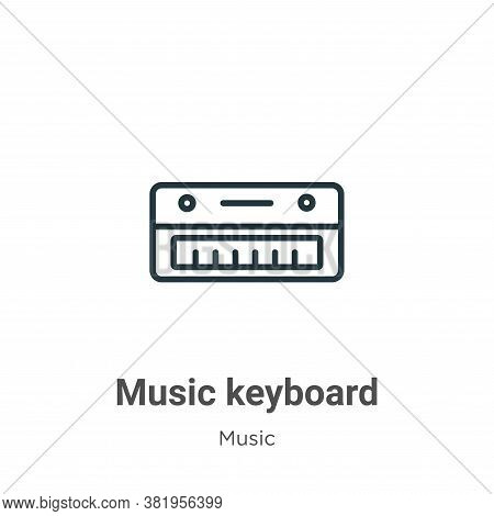 Music keyboard icon isolated on white background from music collection. Music keyboard icon trendy a