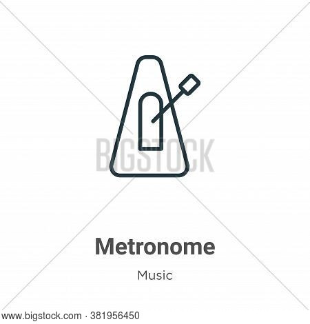 Metronome icon isolated on white background from music collection. Metronome icon trendy and modern
