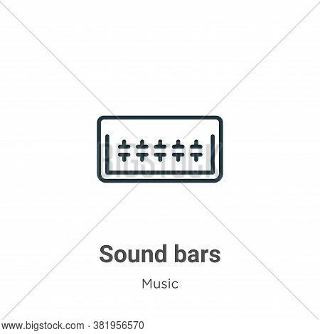 Sound bars icon isolated on white background from music collection. Sound bars icon trendy and moder