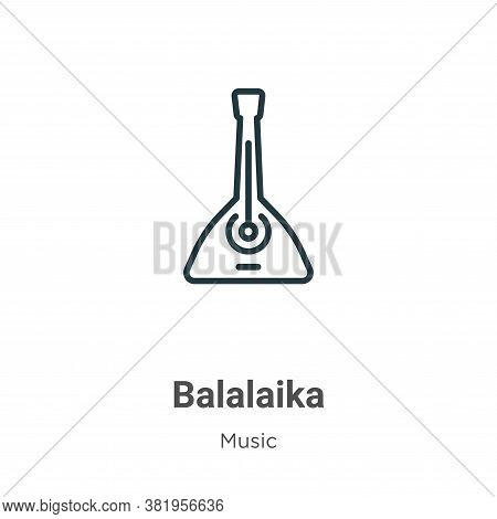 Balalaika Icon From Music Collection Isolated On White Background.