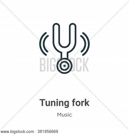 Tuning fork icon isolated on white background from music collection. Tuning fork icon trendy and mod