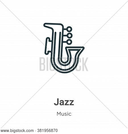 Jazz icon isolated on white background from music collection. Jazz icon trendy and modern Jazz symbo