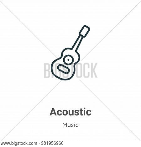 Acoustic icon isolated on white background from music collection. Acoustic icon trendy and modern Ac