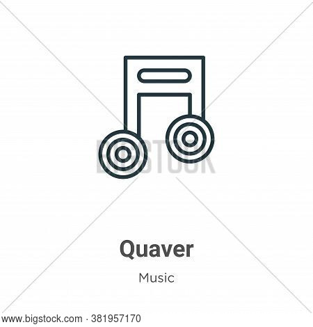 Quaver icon isolated on white background from music collection. Quaver icon trendy and modern Quaver