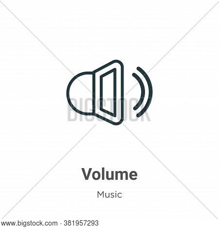 Volume icon isolated on white background from music collection. Volume icon trendy and modern Volume