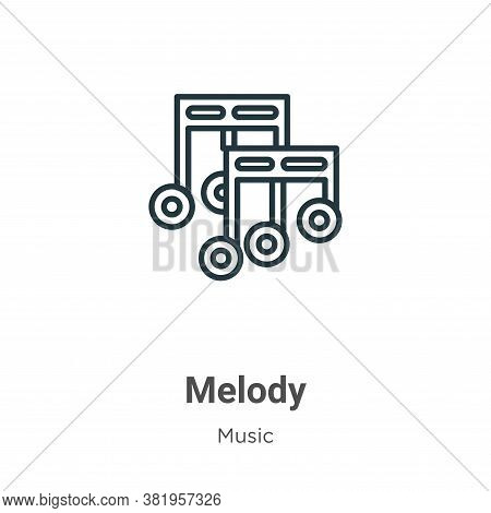 Melody icon isolated on white background from music collection. Melody icon trendy and modern Melody