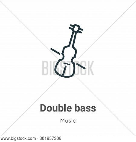 Double bass icon isolated on white background from music collection. Double bass icon trendy and mod