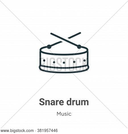 Snare drum icon isolated on white background from music collection. Snare drum icon trendy and moder