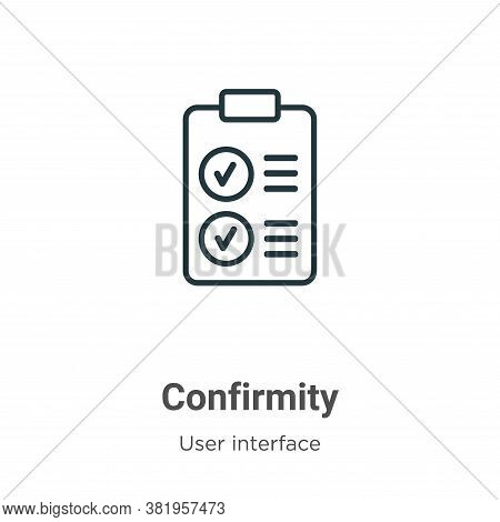Confirmity icon isolated on white background from user interface collection. Confirmity icon trendy