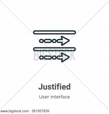 Justified Icon From User Interface Collection Isolated On White Background.