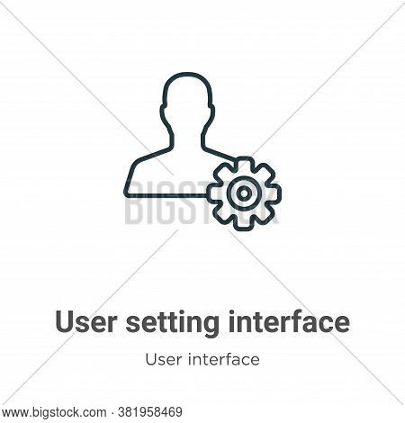 User setting interface icon isolated on white background from user interface collection. User settin