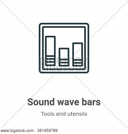 Sound wave bars icon isolated on white background from tools and utensils collection. Sound wave bar