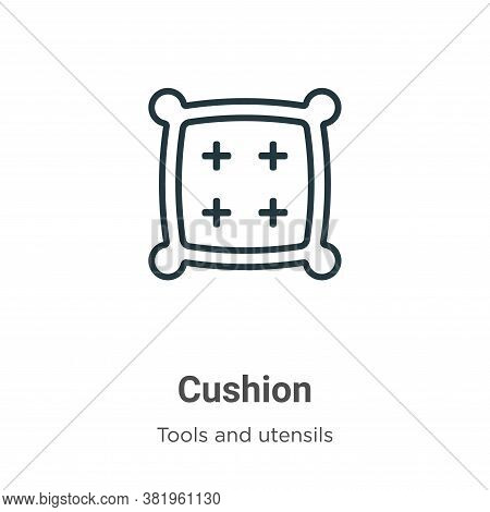 Cushion icon isolated on white background from tools and utensils collection. Cushion icon trendy an