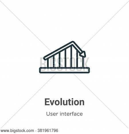 Evolution Icon From User Interface Collection Isolated On White Background.
