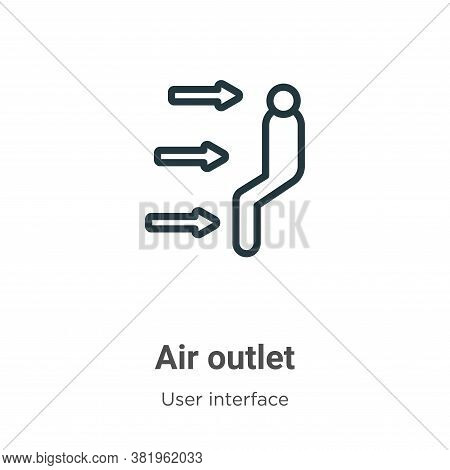 Air outlet icon isolated on white background from user interface collection. Air outlet icon trendy
