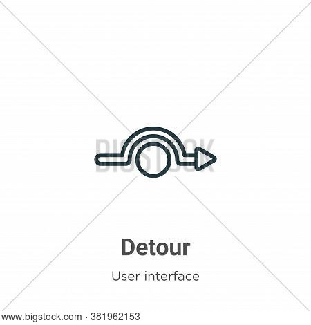 Detour icon isolated on white background from user interface collection. Detour icon trendy and mode