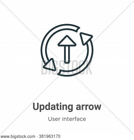 Updating arrow icon isolated on white background from user interface collection. Updating arrow icon