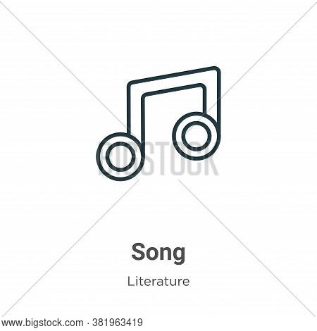 Song icon isolated on white background from literature collection. Song icon trendy and modern Song