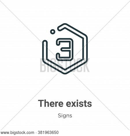 There exists symbol icon isolated on white background from signs collection. There exists symbol ico